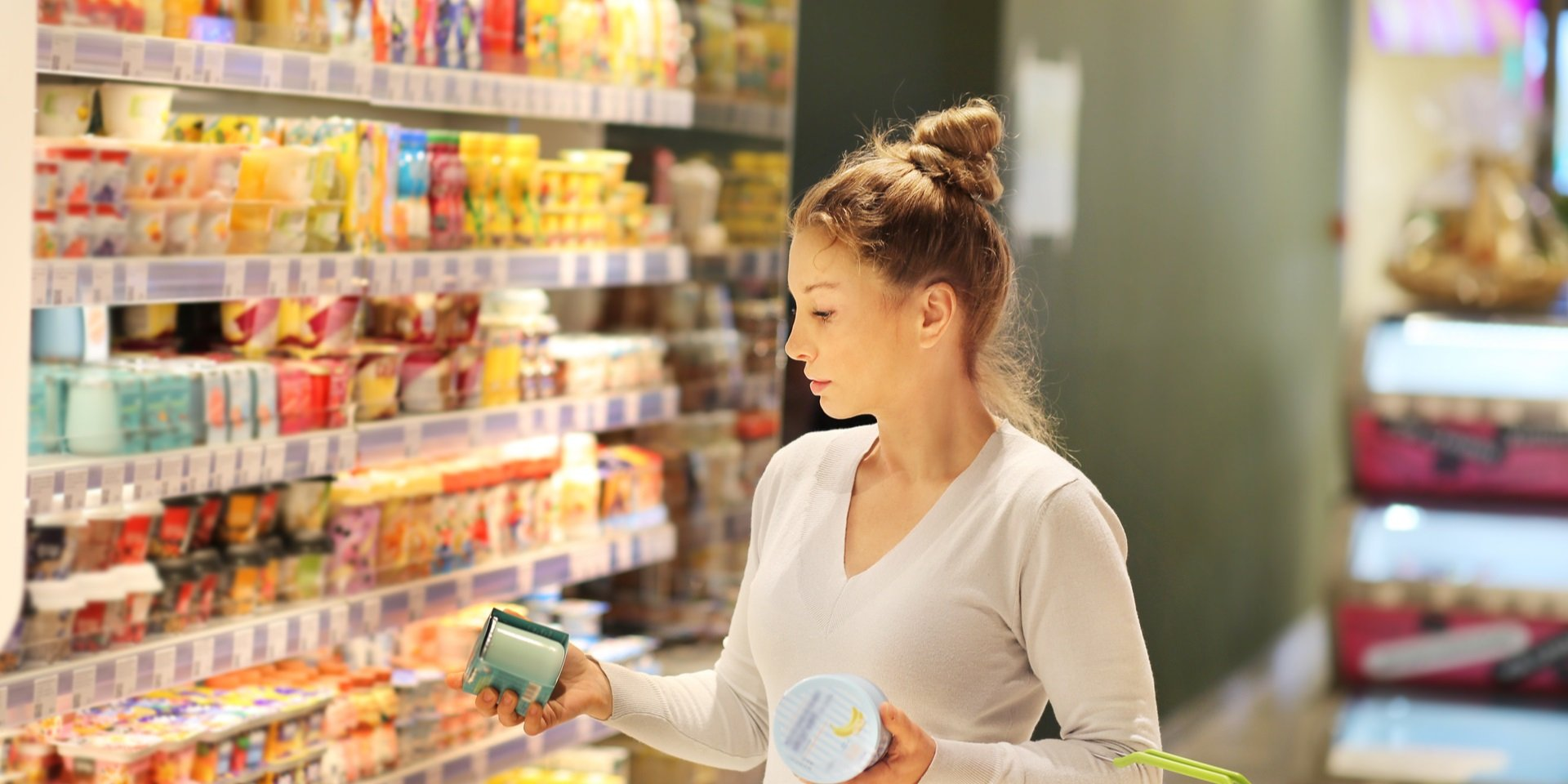 Woman Shopping for Functional Foods